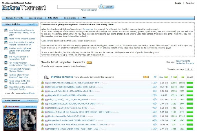 extratorrent proxy site