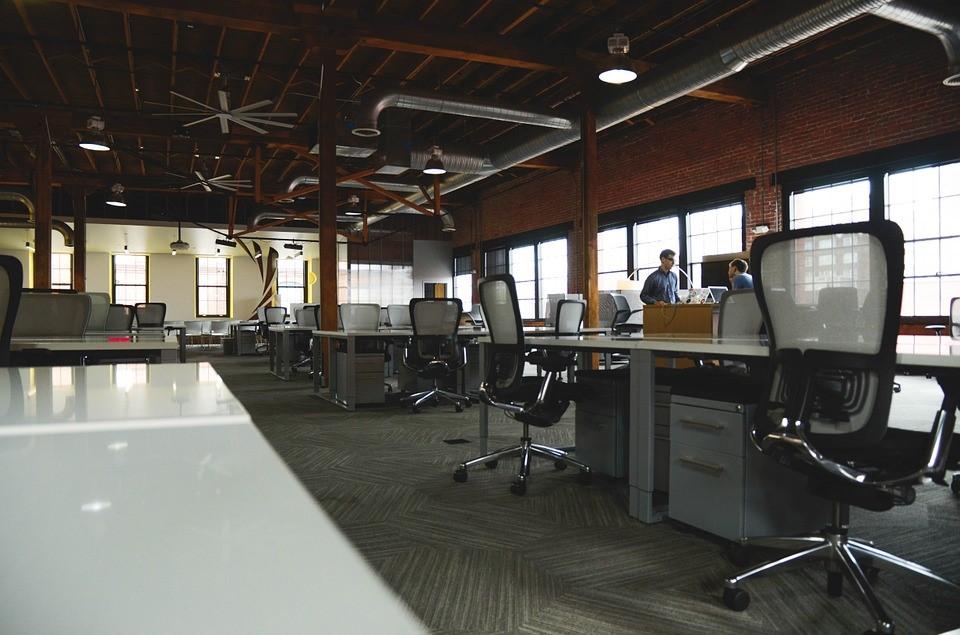 open plan office concept